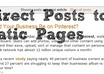 direct Posts onto Pages in Blogger