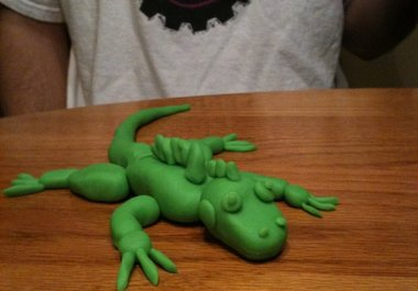 how to make a crocodile out of playdough
