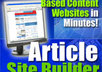 tell you how to build article website