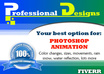 design a professional photoshop animation