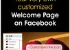 make a welcome tab for your facebook fan page