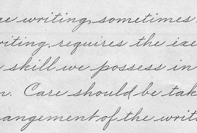 The Slow Death Of Cursive