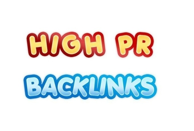 create 100 high quality PR7 to 4 backlinks for your website