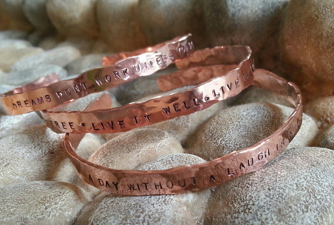 create a copper bangle bracelet
