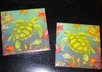 make a set of 2 custom tile coasters with sea turtles small1
