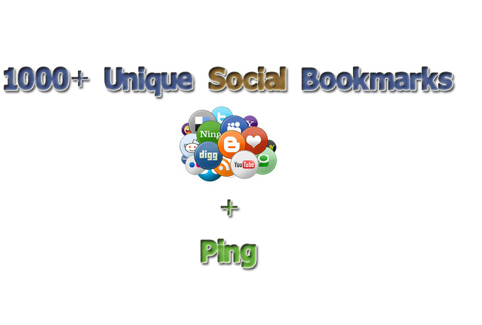 create you 1000+ Unique social bookmarks and Ping them
