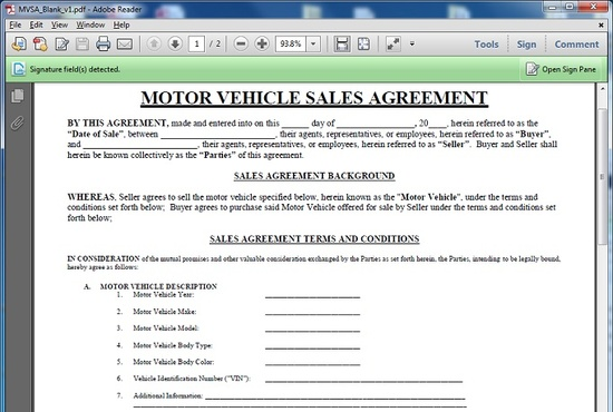 give you a motor vehicle sales contract template fiverr
