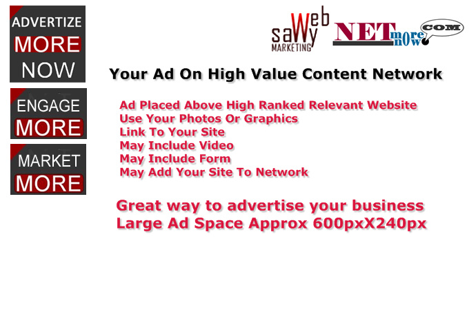 publish your ad on high value content network