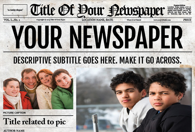 Make Newspaper Design For You Fiverr - design your own newspaper