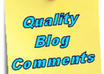 write excellent quality comments on 8 of your blog posts
