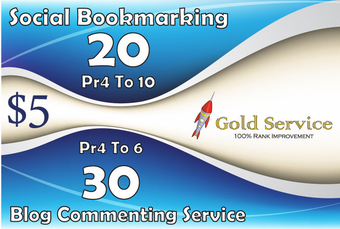 do 20 Pr4 To 10 social bookmarking and 20 pr4, 8 pr 6 and 2 pr6 blogs comment