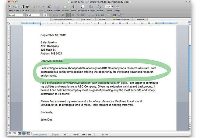 write you an awesome coverletter for any job application