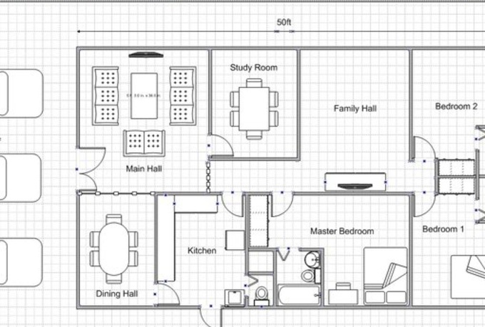 Draw a simple floor plan for your dream house fiverr Easy floor plan drawing