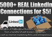 give 5000+ LinkedIn Connections