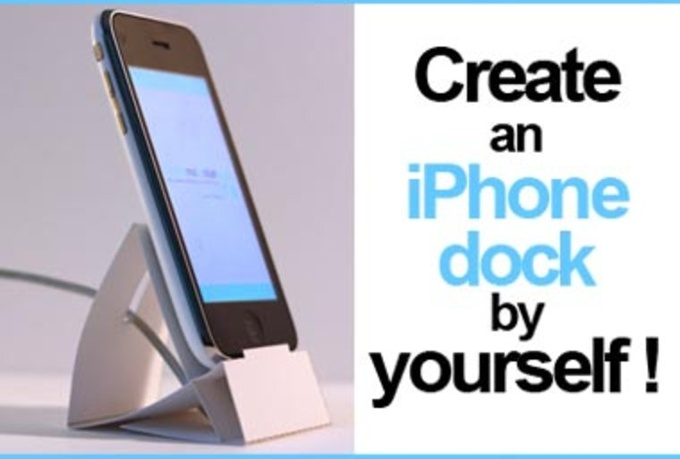 show you how to DIY an iPhone paper dock