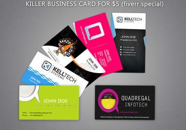 Make a killer business card fiverr for Fiverr business cards