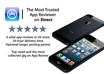 write 4 great app reviews for your iPhone and iPad apps