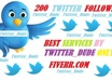 provide 200 FOLLOWERS to your Twitter without needing password within 24hrs
