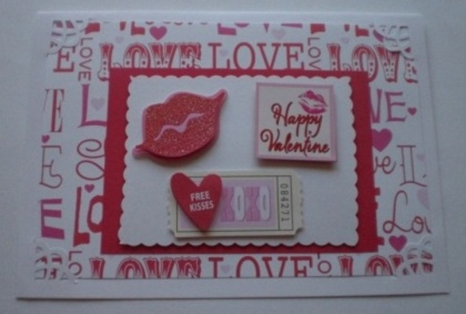 send you 2 handmade Valentines Day cards