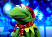 make a personalized video holiday greeting of Kermit The Frog and sing We Wish You a Merry Christmas small1