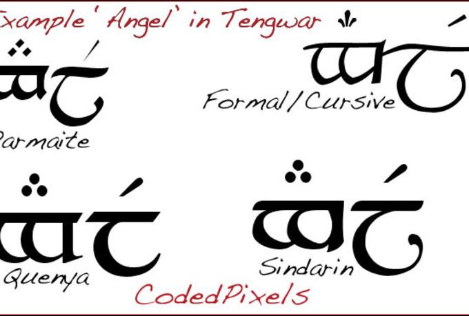 I want to write my name in elvish