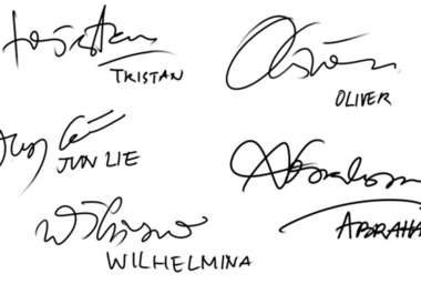 nice signatures for names