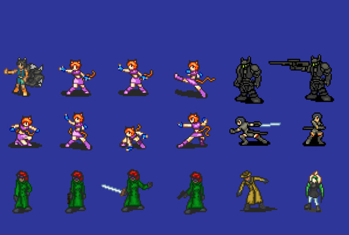 how to create pixel characters