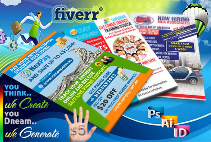 create a flyer or poster design