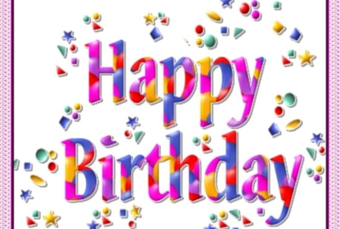 Sing happy birthday or congrat somebody in english or italian or