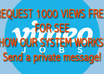 delivered super fast 15500 + 500 free = 20,000 views on VIMEO and split the views on 120 hrs 5 days