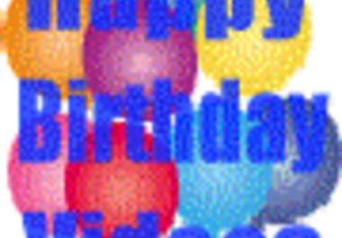 will create a top quality birthday video card and post