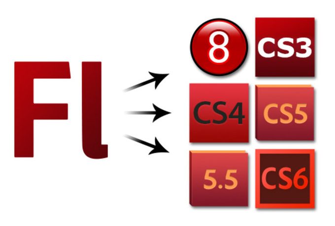 save your Flash FLA file to whatever version of Flash you want