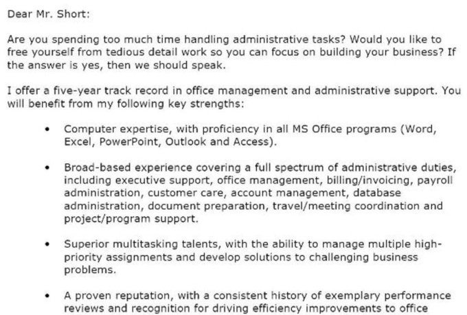 Create Or Edit A Basic Cover Letter For You